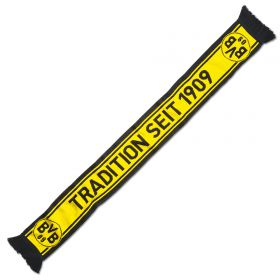 BVB Reversible 1909 Scarf - Yellow/Black - Adult