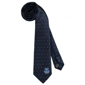 Everton Patterned Tie - Dark Blue - Poly