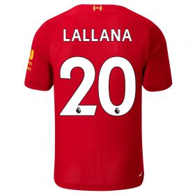 Liverpool Home Shirt 2019-20 - Kids with Lallana 20 printing