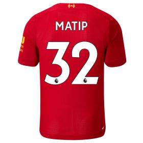 Liverpool Home Shirt 2019-20 - Kids with Matip 32 printing