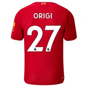 Liverpool Home Shirt 2019-20 - Kids with Origi 27 printing