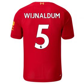Liverpool Home Shirt 2019-20 - Kids with Wijnaldum 5 printing
