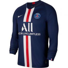 Paris Saint-Germain Home Stadium Shirt 2019-20 - Long Sleeve with Juan Bernat 14 printing