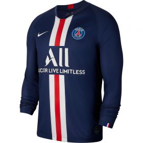 Paris Saint-Germain Home Stadium Shirt 2019-20 - Long Sleeve with Kehrer 4 printing