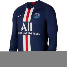 Paris Saint-Germain Home Stadium Shirt 2019-20 - Long Sleeve with Kurzawa 20 printing