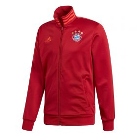 FC Bayern 3 Stripe Track Top - Red