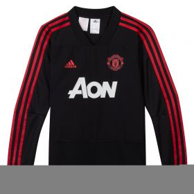Manchester United Training Top - Black - Kids