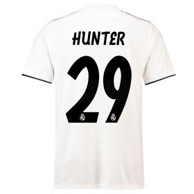 Real Madrid Home Shirt 2018-19 with Hunter 29 printing