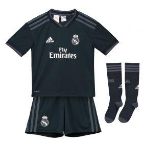 Real Madrid Away Mini Kit 2018-19 with M. Llorente 18 printing