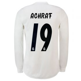 Real Madrid Home Adi Zero Shirt 2018-19 - Long Sleeve with Achraf 19 printing