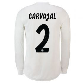 Real Madrid Home Adi Zero Shirt 2018-19 - Long Sleeve with Carvajal 2 printing
