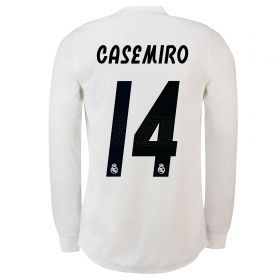 Real Madrid Home Adi Zero Shirt 2018-19 - Long Sleeve with Casemiro 14 printing
