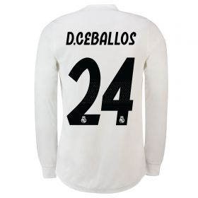 Real Madrid Home Adi Zero Shirt 2018-19 - Long Sleeve with D. Ceballos 24 printing