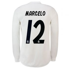 Real Madrid Home Adi Zero Shirt 2018-19 - Long Sleeve with Marcelo 12 printing