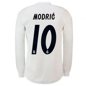 Real Madrid Home Adi Zero Shirt 2018-19 - Long Sleeve with Modric 10 printing