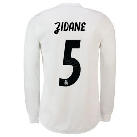 Real Madrid Home Adi Zero Shirt 2018-19 - Long Sleeve with Zidane 5 printing