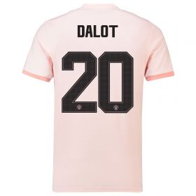 Manchester United Away Cup Shirt 2018-19 with Dalot 20 printing