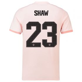 Manchester United Away Cup Shirt 2018-19 with Shaw 23 printing