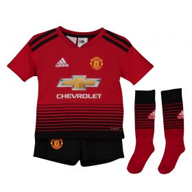 Manchester United Home Mini Kit 2018-19 with Dalot TBC printing