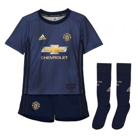 Manchester United Third Mini Kit 2018-19 with Pogba 6 printing