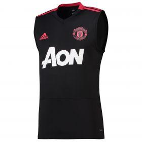 Manchester United Training Sleeveless Jersey - Black