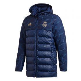 Real Madrid Seasonal Padded Jacket - Navy