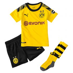 BVB Home Mini Kit 2019-20 with Haaland 17 printing