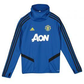 Manchester United Training Warm Top - Blue - Kids
