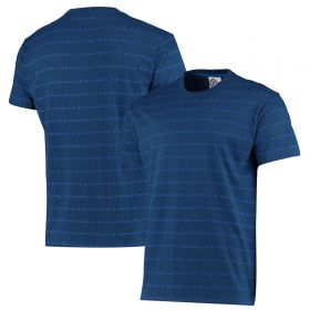 Chelsea Printed Stripe T-Shirt - Navy - Mens