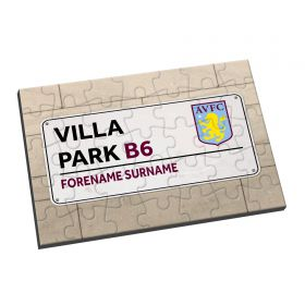 Aston Villa Personalised Street Sign Jigsaw