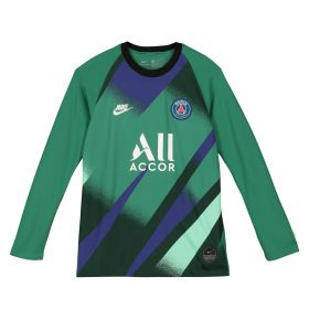 Paris Saint-Germain Third Stadium Goalkeeper Shirt - Long Sleeve - Kids with K.Navas 1 printing