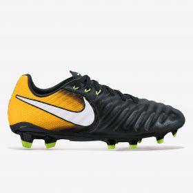 Nike Tiempo Legend VII Firm Ground Football Boots - Black/White/Laser Orange/Volt - Kids