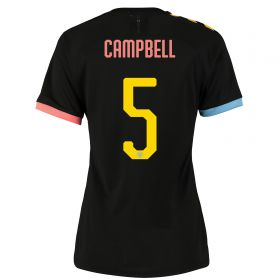 Manchester City Cup Authentic Away Shirt 2019-20 - Womens with Campbell 5 printing