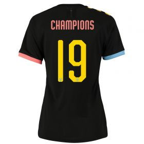 Manchester City Cup Authentic Away Shirt 2019-20 - Womens with Champions 19 printing
