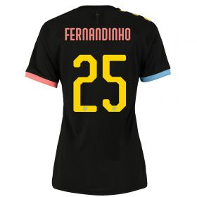 Manchester City Cup Authentic Away Shirt 2019-20 - Womens with Fernandinho 25 printing