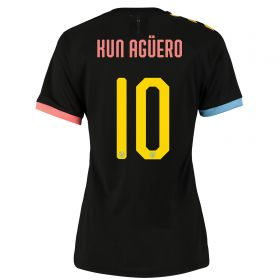 Manchester City Cup Authentic Away Shirt 2019-20 - Womens with Kun Agüero 10 printing