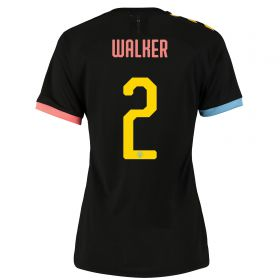Manchester City Cup Authentic Away Shirt 2019-20 - Womens with Walker 2 printing
