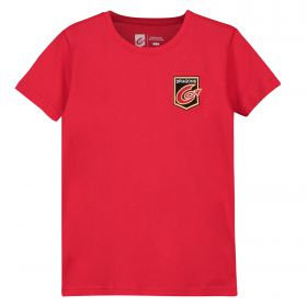 Dragons Rugby Core Embroidered T-Shirt - Red - Junior