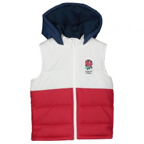 England Panel Gilet - White/Red/Navy - Baby