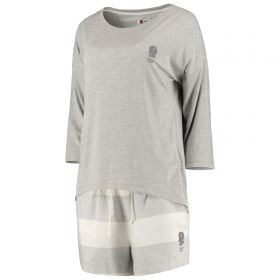 England Slouchy Short Pyjamas - Light Grey Marl - Womens