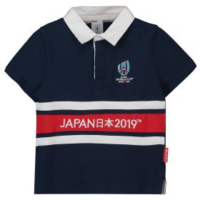 Rugby World Cup 2019 Panel Rugby Jersey - Navy - Junior