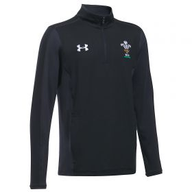 Welsh Rugby 1/4 Zip Training Top - Anthracite - Junior