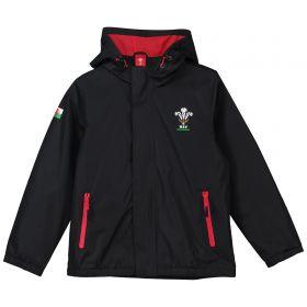 Welsh Rugby Core Shower Jacket - Black - Junior