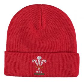 Welsh Rugby Cuff Beanie - Red - Adult