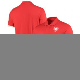 Welsh Rugby Modern Heritage Polo Shirt - Red - Mens