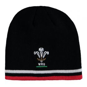 Welsh Rugby Pull On Beanie - Black - Adult