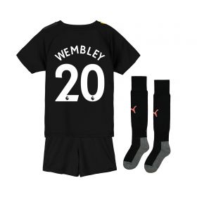 Manchester City Away Mini Kit 2019-20 with Wembley 20 printing