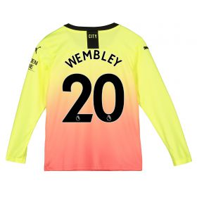 Manchester City Third Shirt 2019-20 - Long Sleeve - Kids with Wembley 20 printing