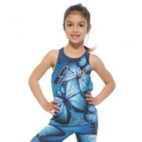 Детски Потник EX FIT Kids Top Blue Butterfly