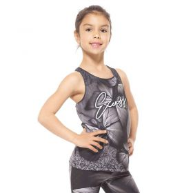 Детски Потник EX FIT Kids Top Grey Butterfly